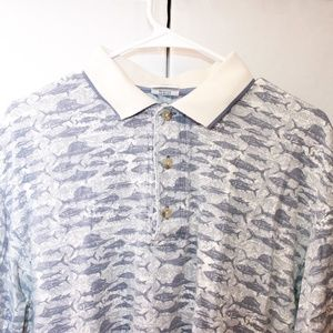 Columbia Shirts - Columbia Men's Size Medium Fish Pattern Polo
